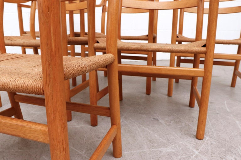 Set of 6 'CH46' Oak Dining or Armchairs by Hans J. Wegner For Sale 5