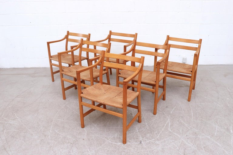 Danish Set of 6 'CH46' Oak Dining or Armchairs by Hans J. Wegner For Sale