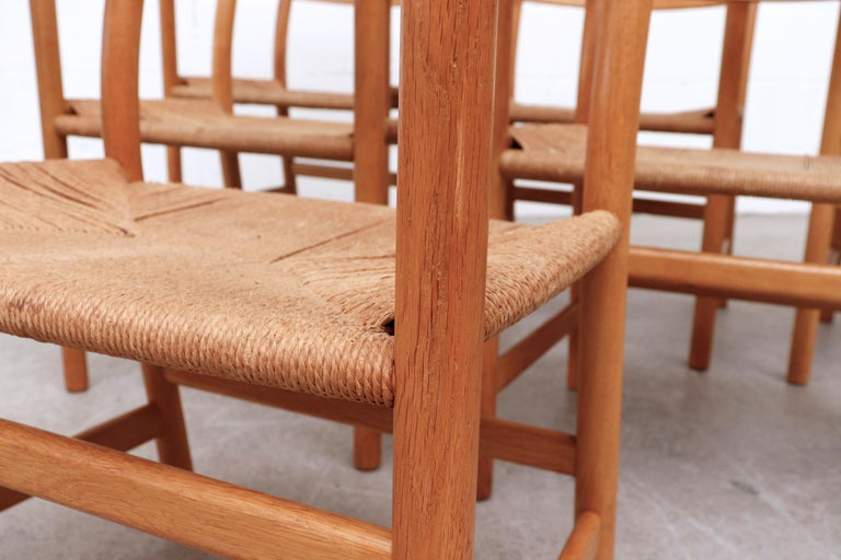 Set of 6 'CH46' Oak Dining or Armchairs by Hans J. Wegner For Sale 1