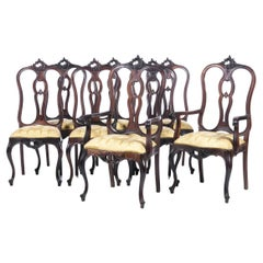 Set of 6 Chairs and 2 Armchairs 19th Century