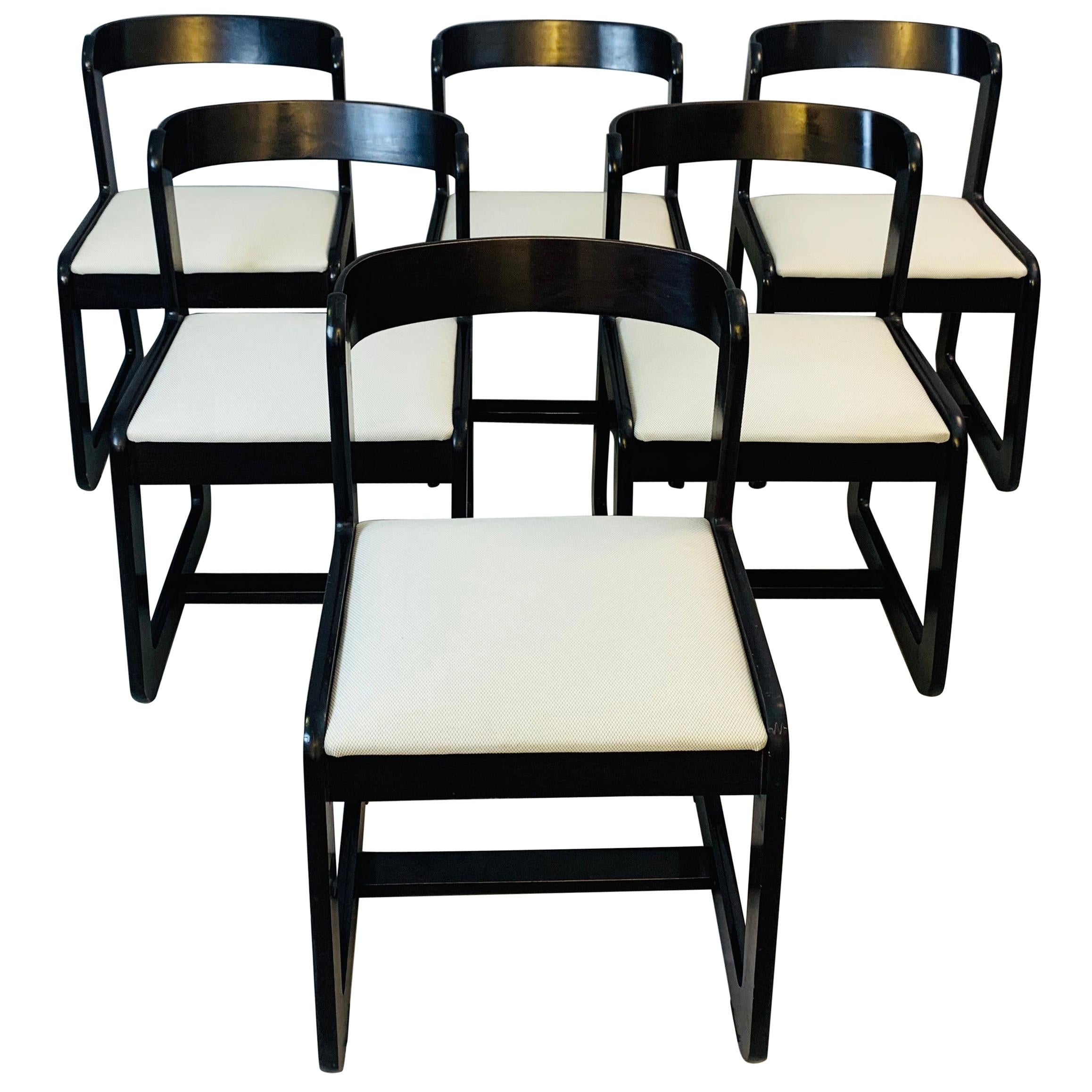 Set of 6 Chairs Attributed to Willy Rizzo