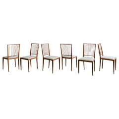Set of 6 Chairs by Joaquim Tenreiro, 1947, Midcentury Design