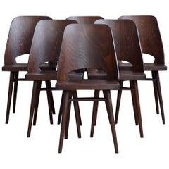 Set of 6 Chairs by Oswald Haerdtl, Beech Veneer, Oil Finish