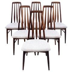 Set of 6 Chairs, Danish Design, Niels Koefoed, 1960s