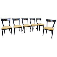 Set of 6 Chairs, Empire Style, Belgium