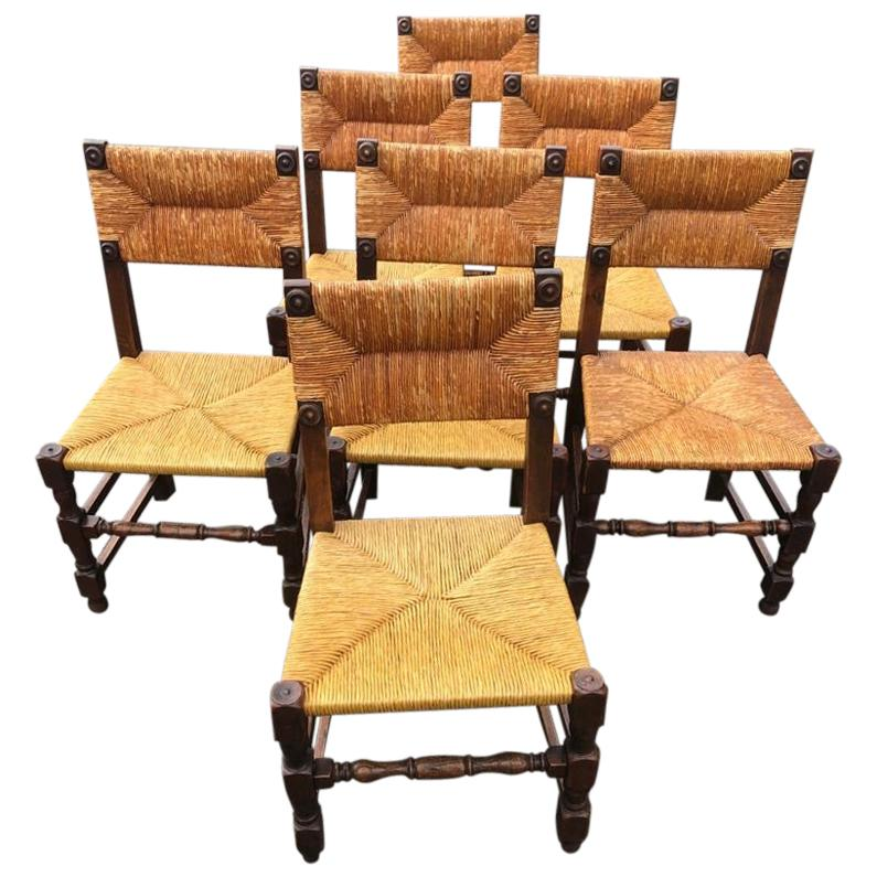 Set of 6 brutalist chairs