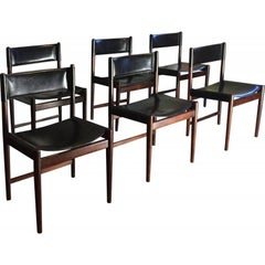 Set of Six Chairs in Rosewood by Arne Vodder for Sibast, 1960