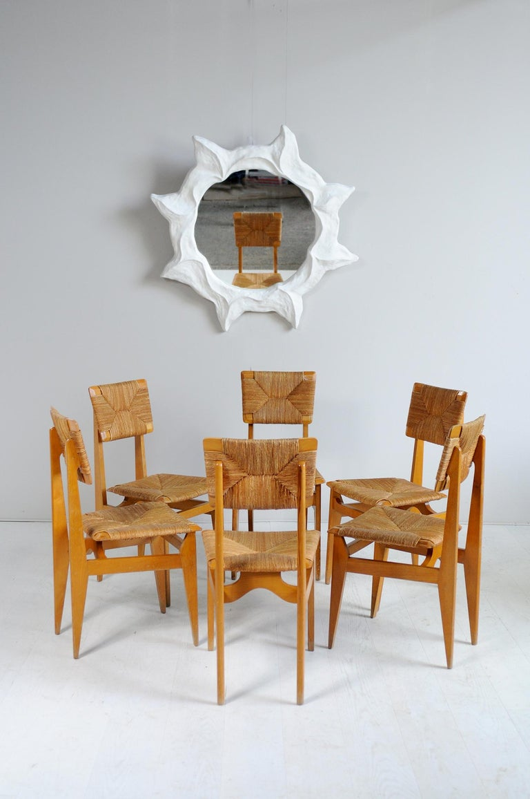 Set of 6 Chairs Model C Marcel Gascoin, France, 1950 For Sale 7