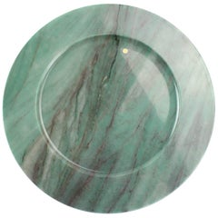 Set of 6 Charger Plates in Green Quartzite Design by Pieruga Marble, Italy
