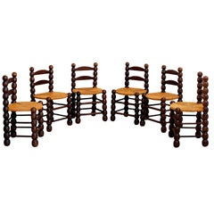 Set of 6 Charles Dudouyt Dining Chairs