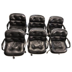 set of 6  Charles Pollock  Pollock Executive Chairs