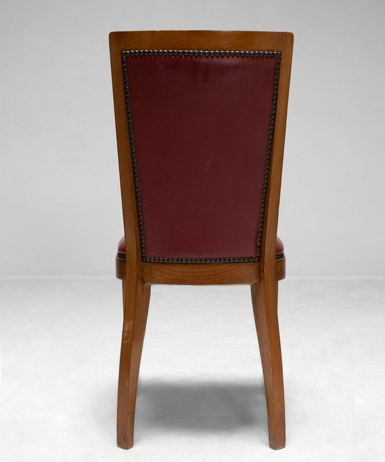 Italian Set of '6' Cherrywood Dining Chairs For Sale