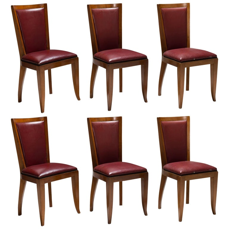 Set of '6' Cherrywood Dining Chairs For Sale