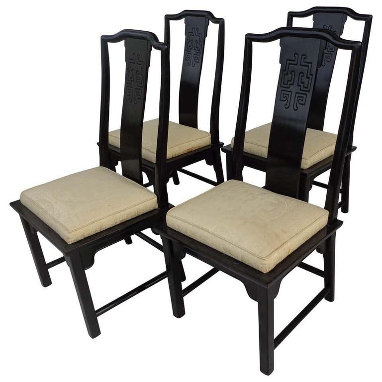 Set of 6 Chin Hua Dining Chairs by Raymond Sabota for Century Furniture In Good Condition For Sale In Pasadena, TX