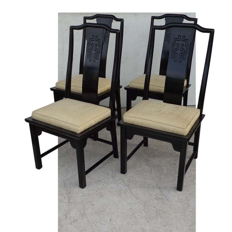Wood Set of 6 Chin Hua Dining Chairs by Raymond Sabota for Century Furniture For Sale