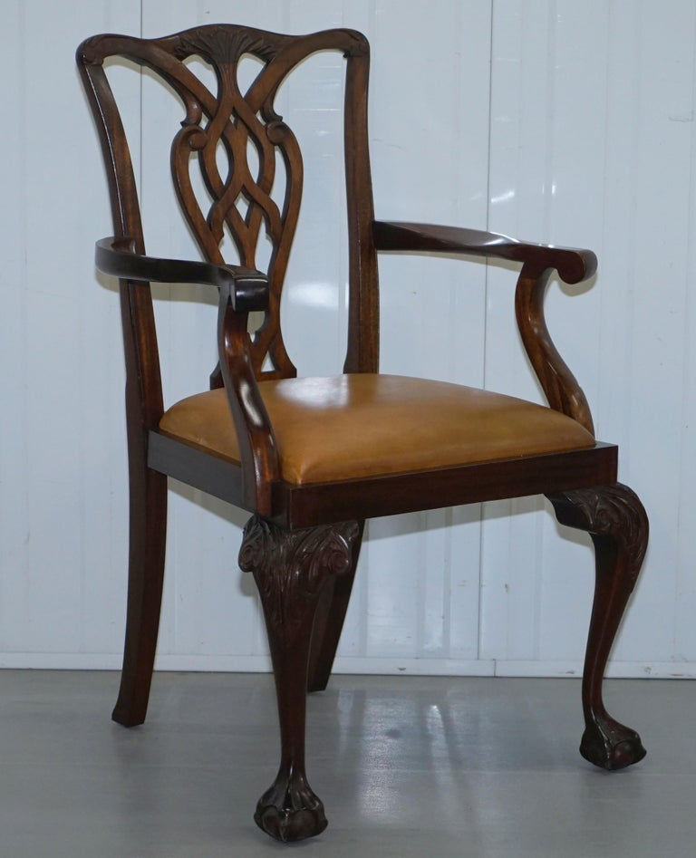 Dining Benches For Sale: Set Of 6 Claw And Ball Mahogany Thomas Chippendale Style