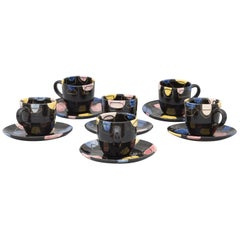 Set of 6 Coffee Cups 1990 Designed by Hedwig Bollhagen MFR emerged from Bauhaus