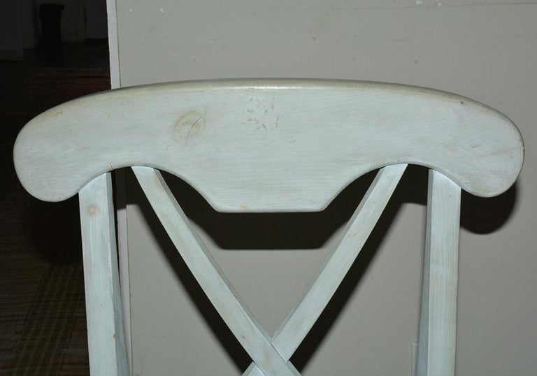 Set of 6 Contemporary Hand Painted Dining Chairs For Sale 2