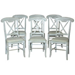Set of 6 Contemporary Hand Painted Dining Chairs