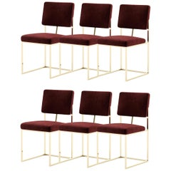 Set of 6 Contemporary Style Dining Chairs