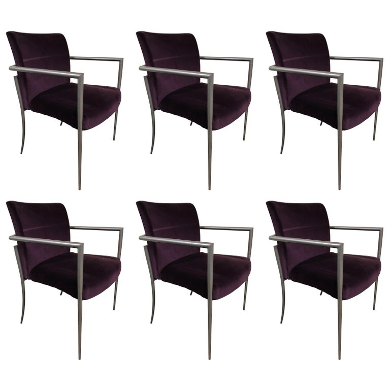 Set Of 6 Cortona Guest Staking Chairs By Joe Ricchio For