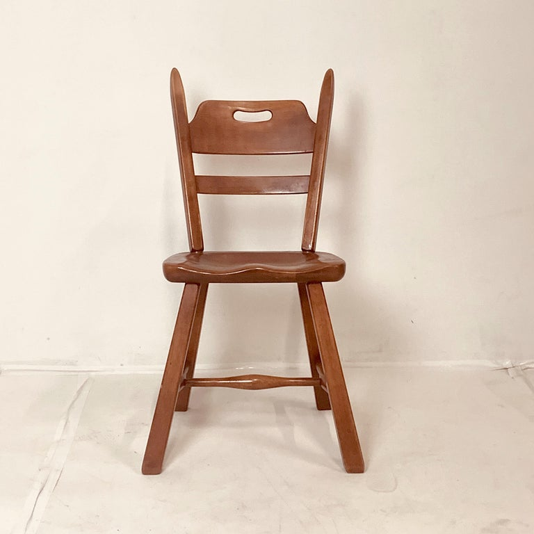 Set of 6 Cushman Vermont Rock Maple Dining Chairs Designed by Herman DeVries For Sale 4