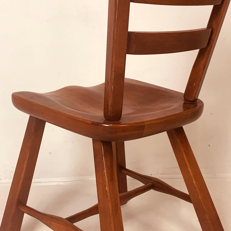 Set of 6 Cushman Vermont Rock Maple Dining Chairs Designed by Herman DeVries For Sale 6