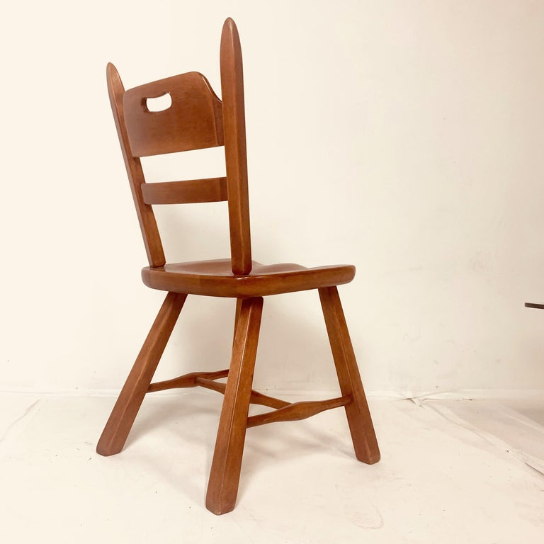 Set of 6 Cushman Vermont Rock Maple Dining Chairs Designed by Herman DeVries For Sale 7