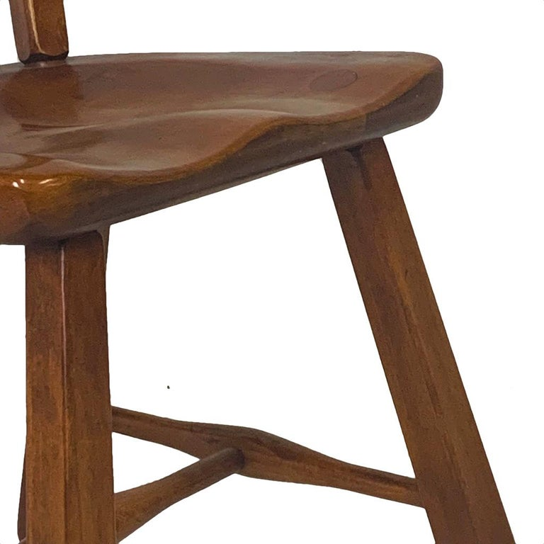 Set of 6 Cushman Vermont Rock Maple Dining Chairs Designed by Herman DeVries In Good Condition For Sale In Hudson, NY