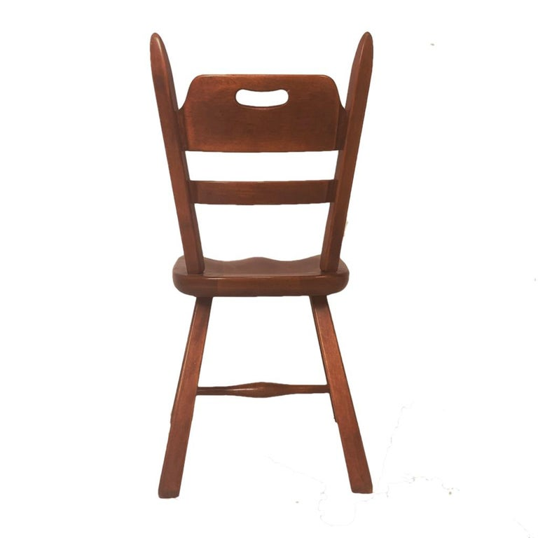 20th Century Set of 6 Cushman Vermont Rock Maple Dining Chairs Designed by Herman DeVries For Sale