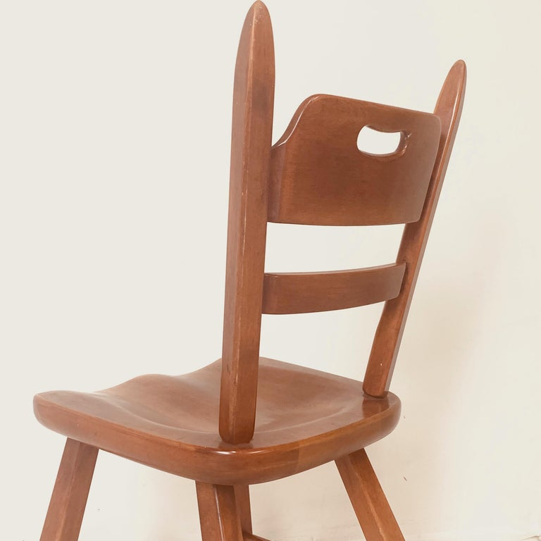 Set of 6 Cushman Vermont Rock Maple Dining Chairs Designed by Herman DeVries For Sale 1