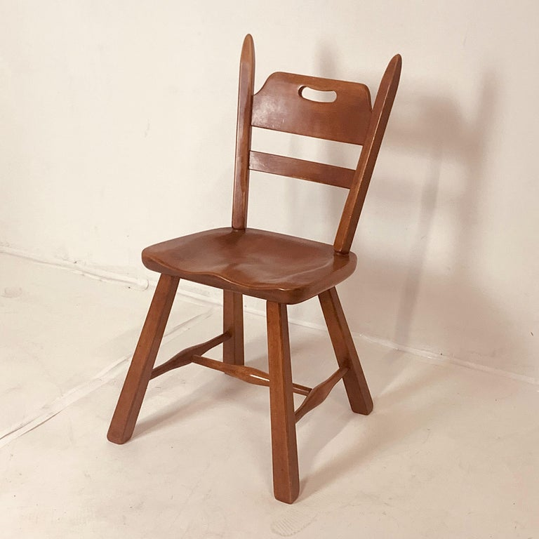 Set of 6 Cushman Vermont Rock Maple Dining Chairs Designed by Herman DeVries For Sale 2