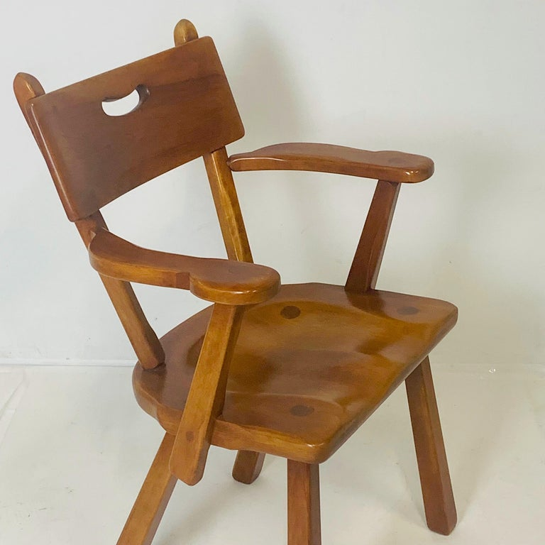 Set of 6 Cushman Vermont Rock Maple Dining Chairs Designed by Herman DeVries For Sale 3