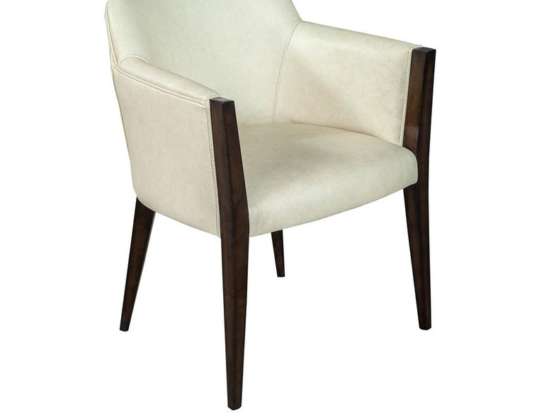 Set of 6 Custom Modern Leather Dining Chairs by Carrocel For Sale 5