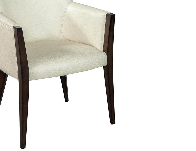 Set of 6 Custom Modern Leather Dining Chairs by Carrocel For Sale 6