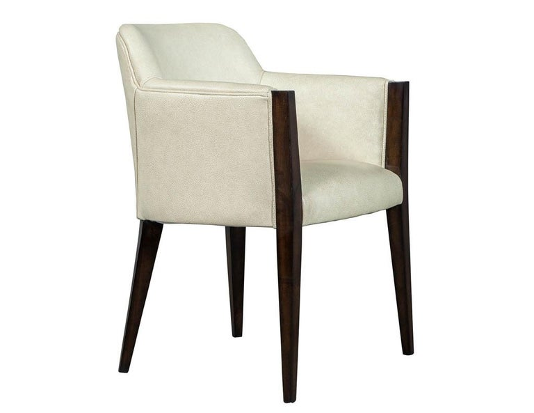 Set of 6 Custom Modern Leather Dining Chairs by Carrocel For Sale 7