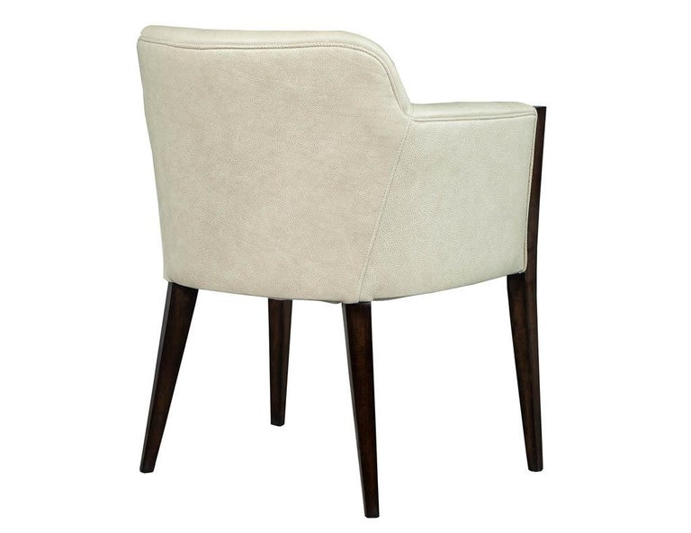 Set of 6 Custom Modern Leather Dining Chairs by Carrocel For Sale 8