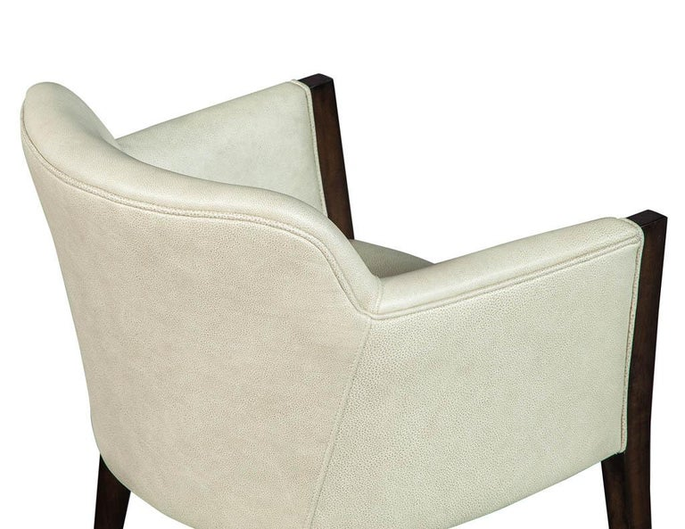 Set of 6 Custom Modern Leather Dining Chairs by Carrocel For Sale 9