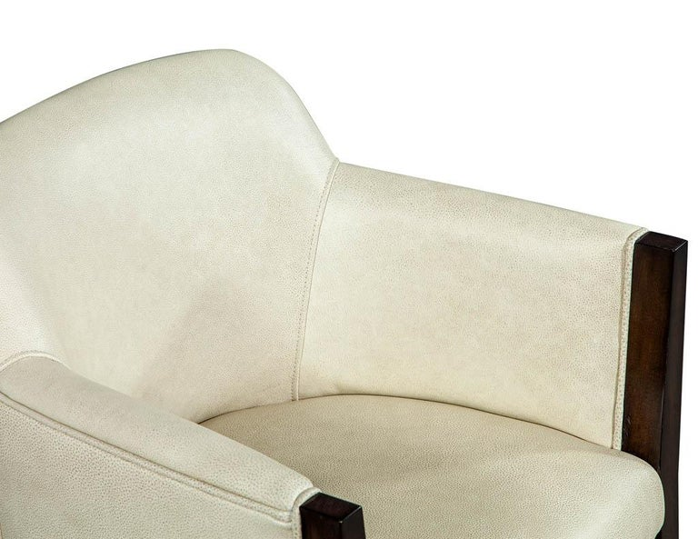 Set of 6 Custom Modern Leather Dining Chairs by Carrocel For Sale 11