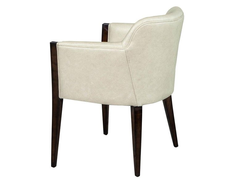 Contemporary Set of 6 Custom Modern Leather Dining Chairs by Carrocel For Sale