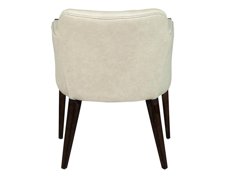 Set of 6 Custom Modern Leather Dining Chairs by Carrocel For Sale 1