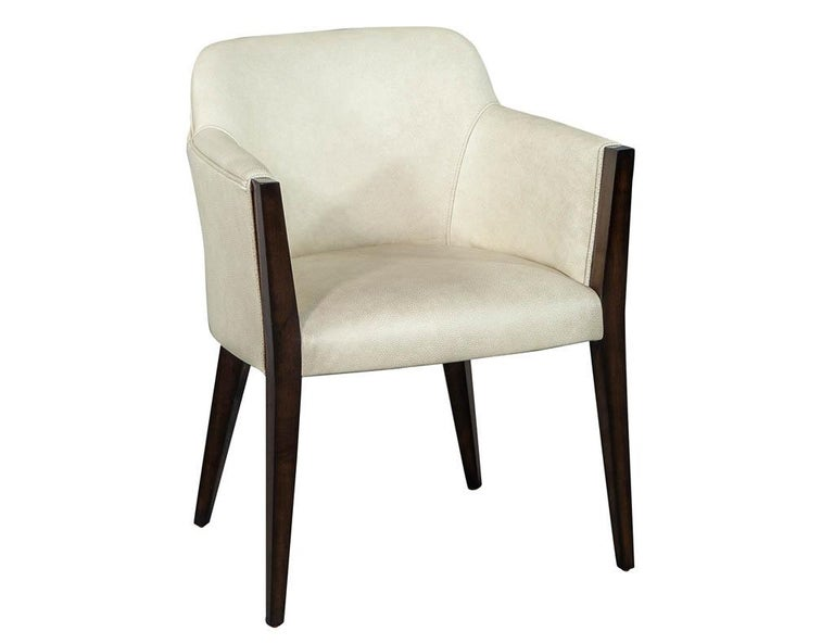 Set of 6 Custom Modern Leather Dining Chairs by Carrocel For Sale 2