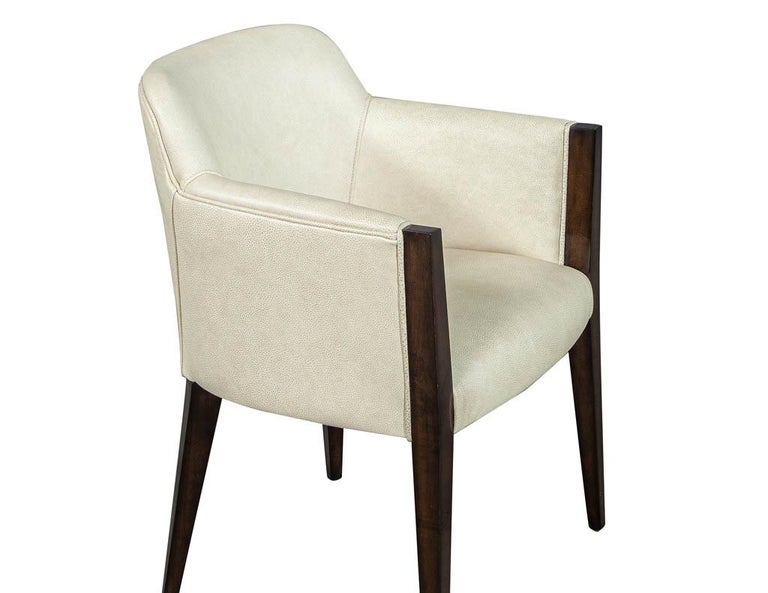 Set of 6 Custom Modern Leather Dining Chairs by Carrocel For Sale 3