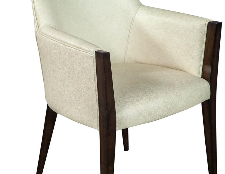 Set of 6 Custom Modern Leather Dining Chairs by Carrocel For Sale 4
