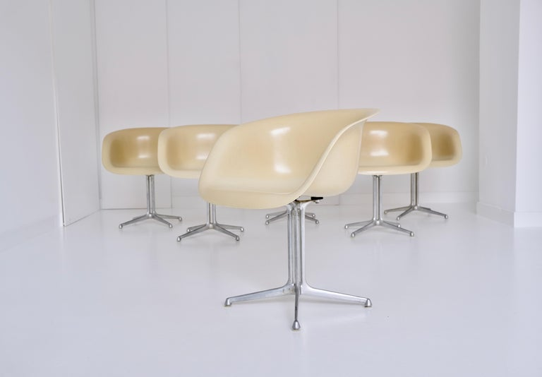 Set of 6 DAL 'Dining Armchair La Fonda' by Ray & Charles Eames for Herman Miller For Sale 3