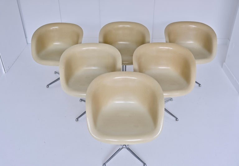 Set of 6 DAL 'Dining Armchair La Fonda' by Ray & Charles Eames for Herman Miller For Sale 4
