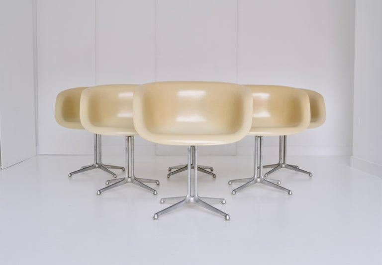 Mid-Century Modern Set of 6 DAL 'Dining Armchair La Fonda' by Ray & Charles Eames for Herman Miller For Sale