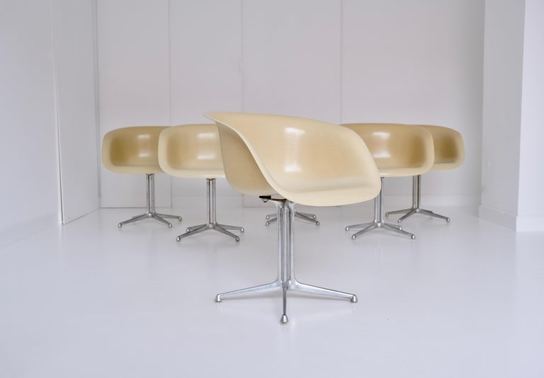 American Set of 6 DAL 'Dining Armchair La Fonda' by Ray & Charles Eames for Herman Miller For Sale