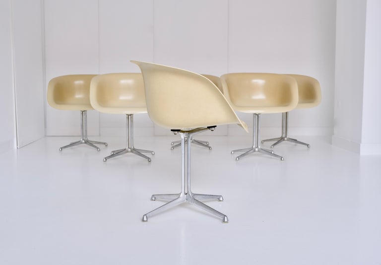 Set of 6 DAL 'Dining Armchair La Fonda' by Ray & Charles Eames for Herman Miller In Good Condition For Sale In Munster, NRW