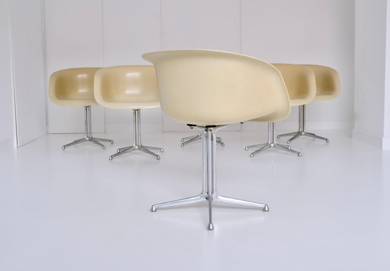 20th Century Set of 6 DAL 'Dining Armchair La Fonda' by Ray & Charles Eames for Herman Miller For Sale